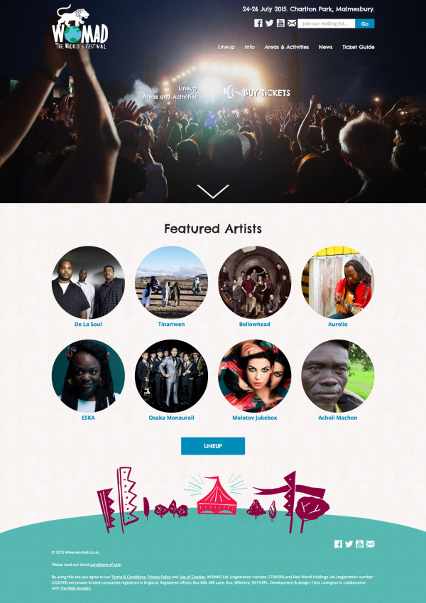 WOMAD Festival - Home Page