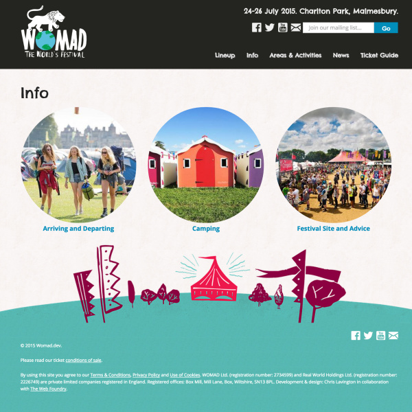 WOMAD Festival - Info Page