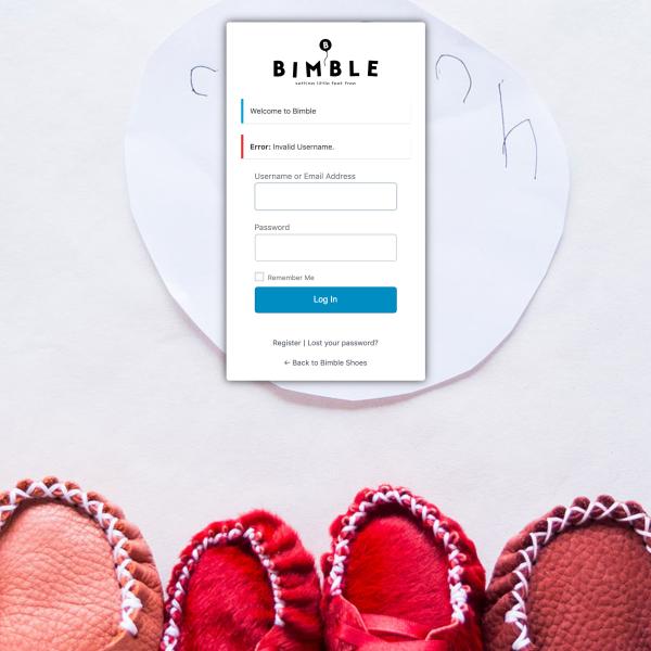 Bimble - Login