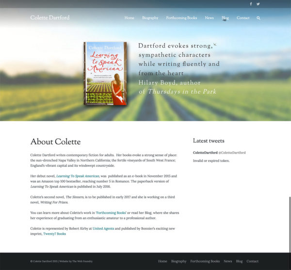 Colette Dartford - Web Design