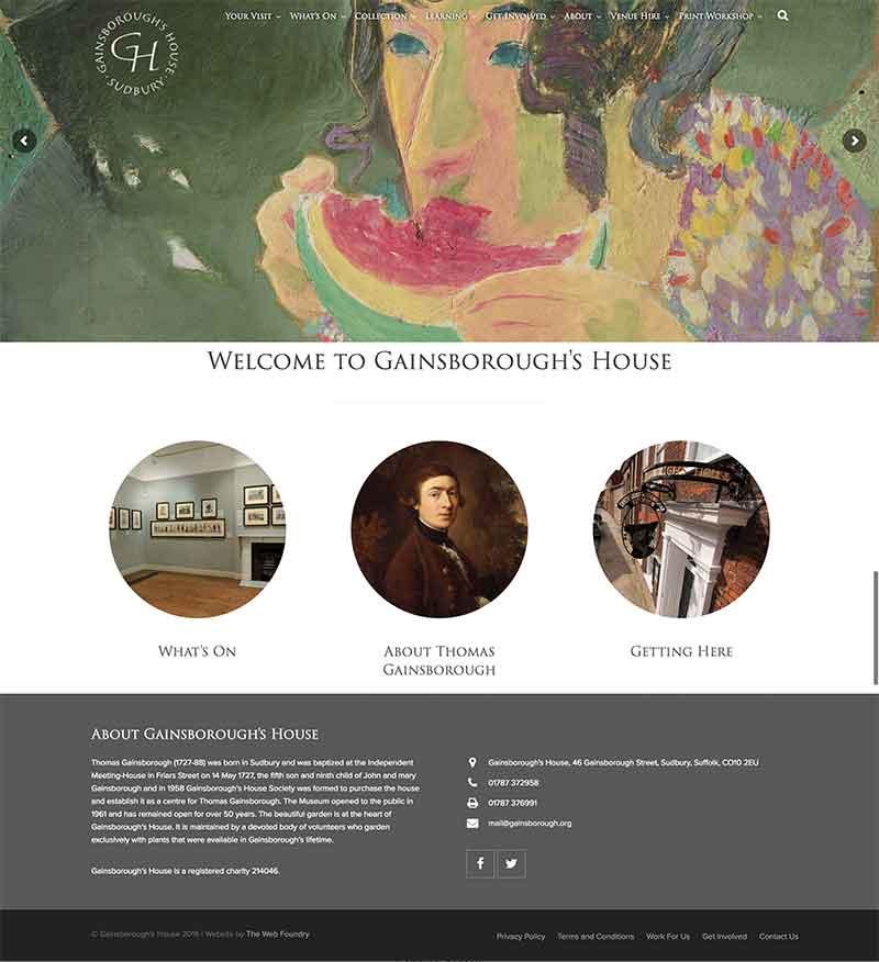 Gainsborough's House Web Design