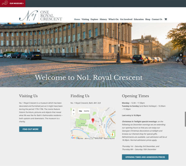No1. Royal Crescent Web Design
