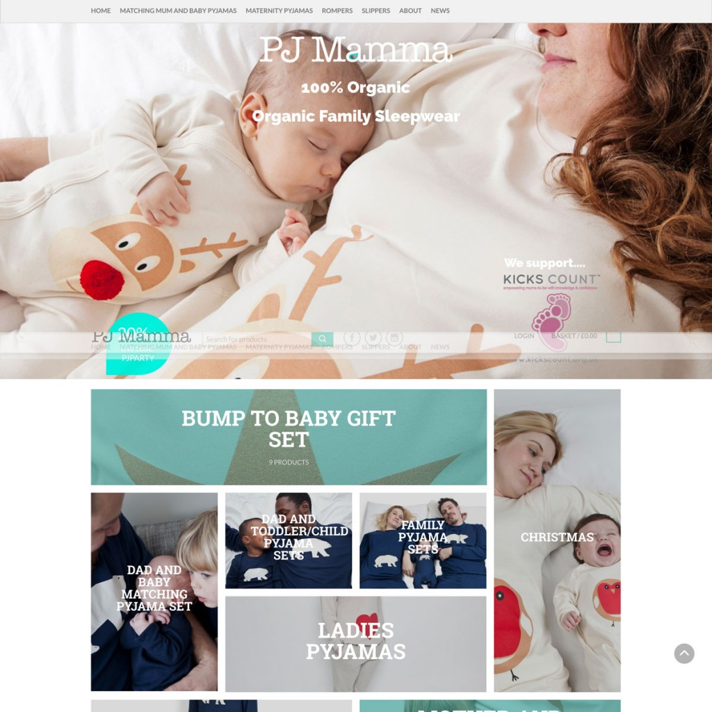 Web Design for PJ Mamma