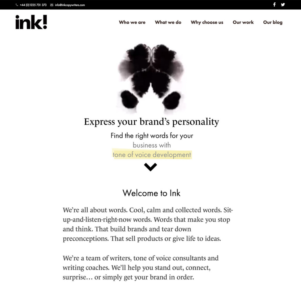 Ink's website