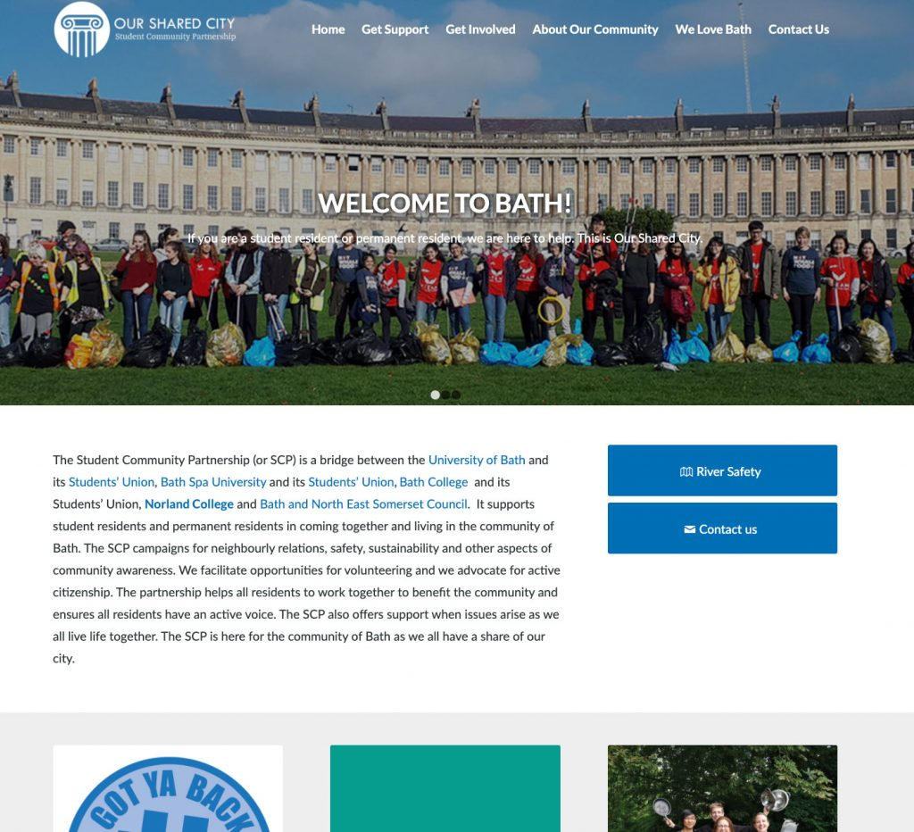 Homepage of SCP Bath